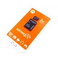 Карта памяти  2Gb ADVANCE MEDIA Micro SD + adapter