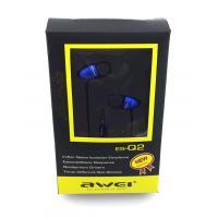 Наушники AWEI ES-Q2 Blue