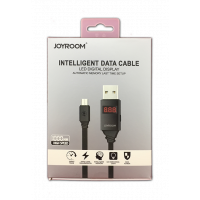 Дата кабель JOYROOM JR-ZS200 Inteligent Data Cable (LED Display) micro USB Black