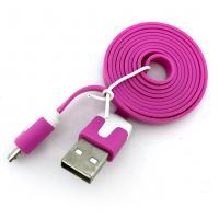 Дата кабель FLAT micro USB 1m Hot Pink (тех. упаковка)