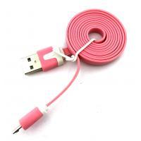 Дата кабель FLAT micro USB 1m Pink (тех. упаковка)
