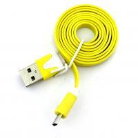 Дата кабель FLAT micro USB 1m Yellow (тех. упаковка)