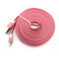 Дата кабель FLAT iPhone 5 2m Pink (тех. упаковка)