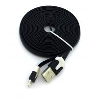 Дата кабель FLAT iPhone 5 3m Black (тех. упаковка)