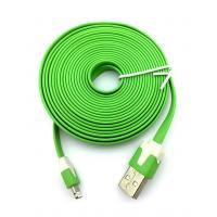 Дата кабель FLAT iPhone 5 3m Green (тех. упаковка)