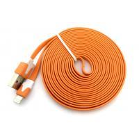 Дата кабель FLAT iPhone 5 3m Orange (тех. упаковка)