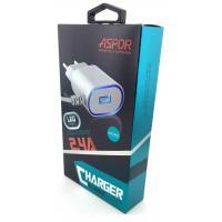 Сетевое ЗУ ASPOR A802 plus micro USB (5V/2.4A/1USB)