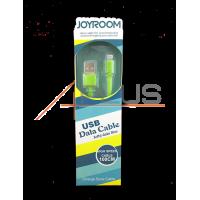 Дата кабель JOYROOM Jelly Data Line iPhone 5 Green